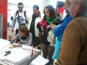 Presión al Santander 1 Stop Desahucios Granada 15m