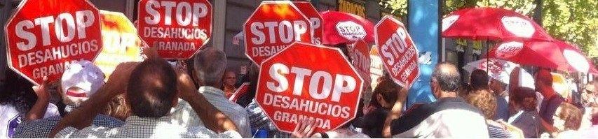 Acción stop desahucios Granada 15-M