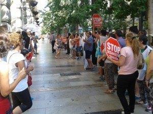 Stop Desahucios frente al Santander