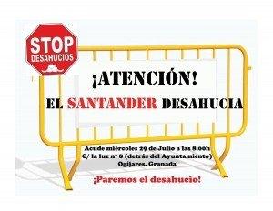 El Santander desahucia. Paremos el desahucio