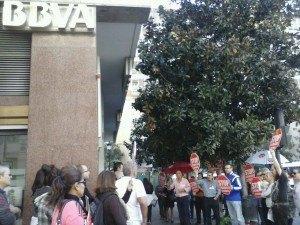 Stop desahucios Granada 15m. En BBVA