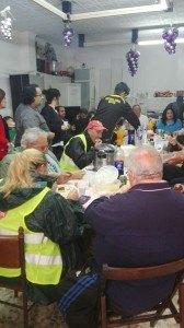 Marcha hacia Cajamar de Almería. Stop Desahucios repone fuerzas en Motril