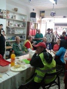 Marcha hacia Cajmar de Almería. Stop desahucios acogido por los compañeros de la costa