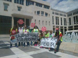 Stop Desahucios en la puerta del Ayuntamiento de El Ejido