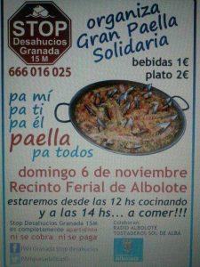 Comida popular Stop desahucios Granada 15M