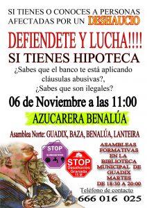 stop desahucios en Benalúa 6 de Noviembre