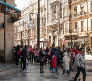 Stop Desahucios Granada en las puertas de la Caixa