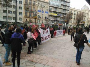 Stop desahucios Granada 15M en las puertas del Popular