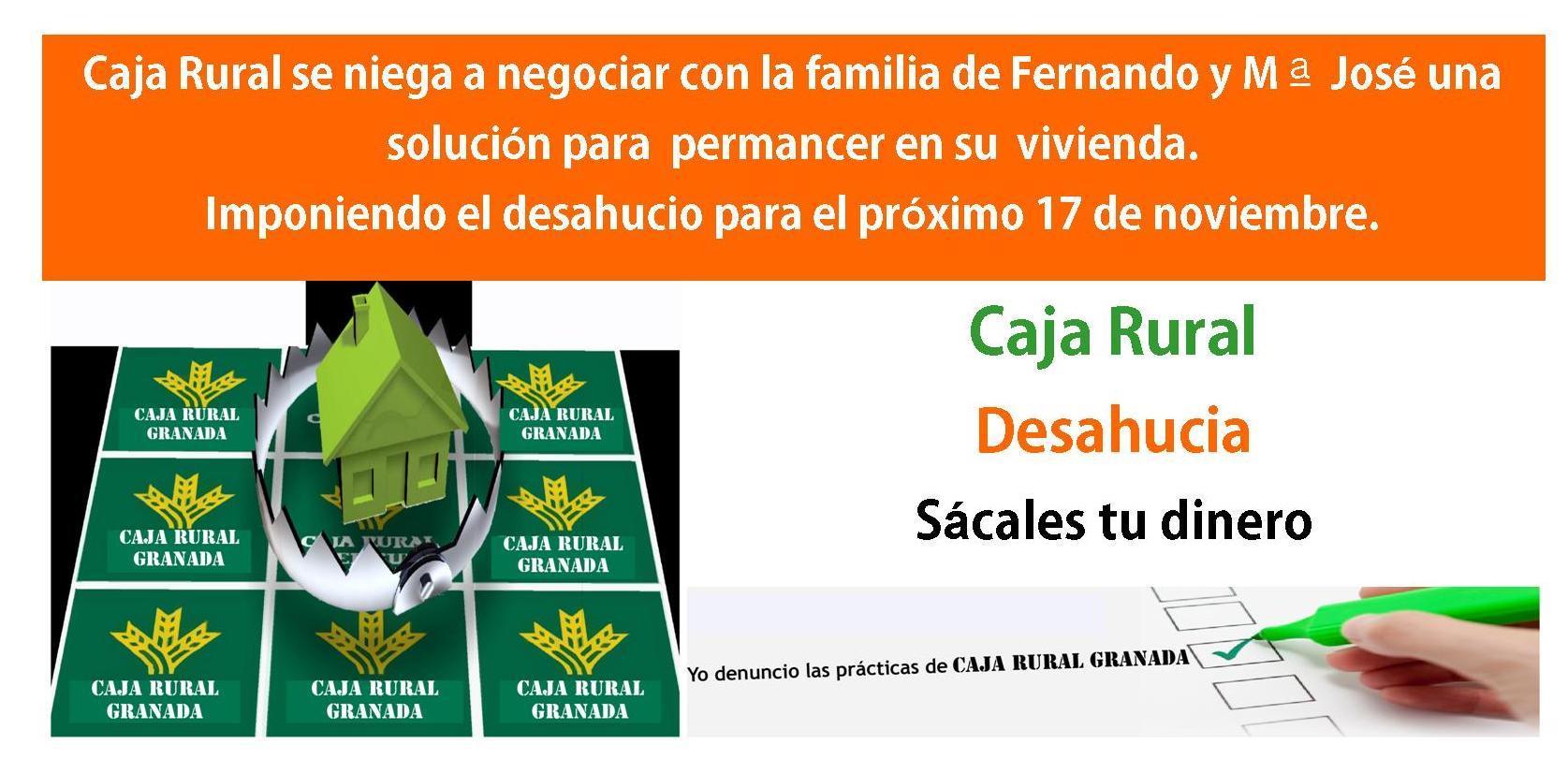 Caja Rural de Granada desahucia