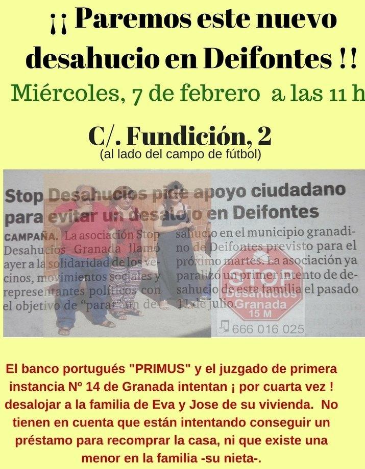 Recuerda: Acude a parar el desahucio de Deifontes